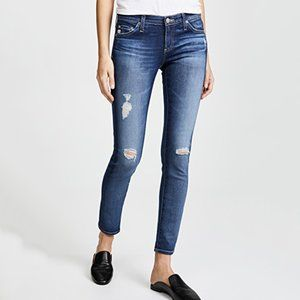 AG The Legging Ankle Distressed Skinny Jeans